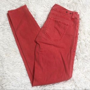 cAbi pink skinny jeans salmon Sz 2 pants bottoms